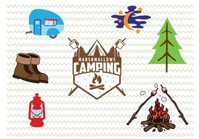 Camp Badge e icone vettore