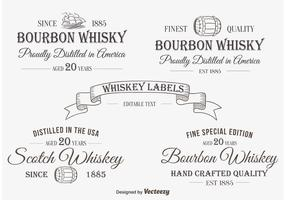 Etichetta / insegne di whisky vettore