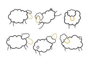 Pecore isolate vettore
