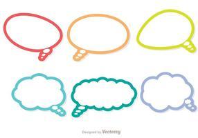 Pacchetto di icone di Live Chat di contorno colorato