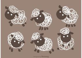 Vettore di pecore divertenti