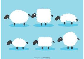 Vettori di pecora sfocata