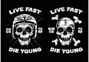 Disegni della maglietta di Grunge gratis vettore