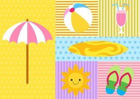 Elementi estate e spiaggia