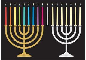 Candelabri ebrei vettore