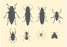 Set vettoriale gratuito di insetti