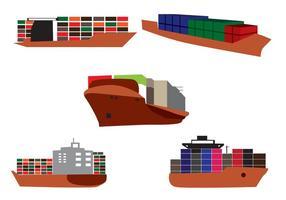 Vettore nave porta-container