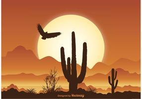 Illustrazione di scena del deserto vettore