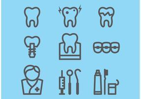 Icone dentali vettore