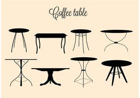 Tavolini da caffè vettoriali gratis