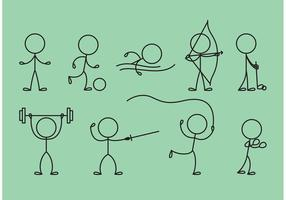 Stick Figure Icons Sport