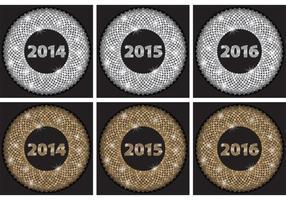 Glitter argento anni vettore
