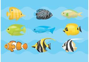 Vettori di pesci tropicali