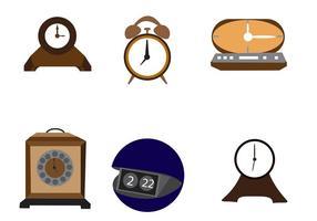 Icone di orologio desktop vettoriale