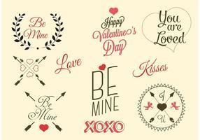 Etichette di San Valentino vettoriali gratis