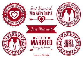 Distintivi appena sposati vettore