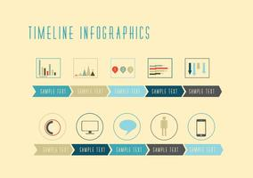 Vettori Infografica Timeline