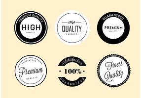 Etichette vettoriali semplici