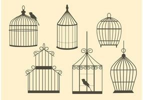Gabbie per uccelli d'epoca vettoriali gratis