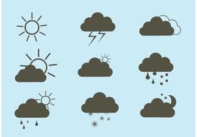 Set di icone vettoriali meteo gratis