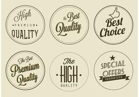Etichette di qualità Premium vettoriali gratis