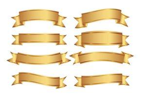 Set di banner decorativi dorati vettore