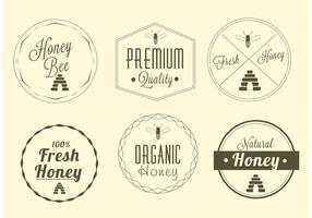 Insieme di vettore di etichetta di miele gratis