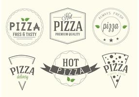 Etichette di pizza vettoriali gratis