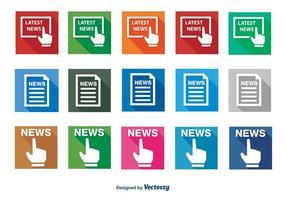 Set di icone di notizie