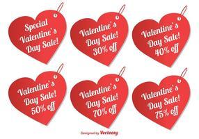 Tag di vendita di San Valentino