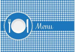 Scheda del menu gratis con il vettore del piatto di carta