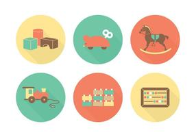 Icone piane di vettore di giocattoli gratis