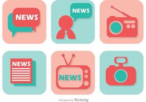 Notizie Media icone vettoriali