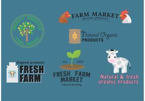 Vettori di logotipi dell'azienda agricola