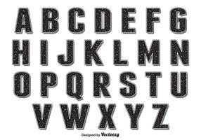 Alfabeto stile retrò grunge vettore