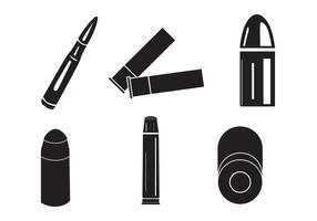 Sagome di proiettili Shotgun vettoriale