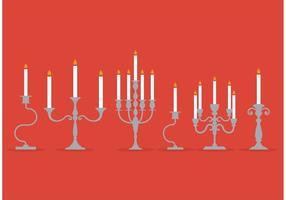 Vettori d'argento candlesticks