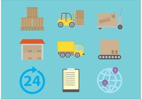 Icone di vettore di consegna
