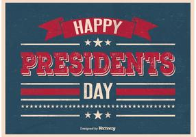 Poster in stile vintage Presidents Day vettore