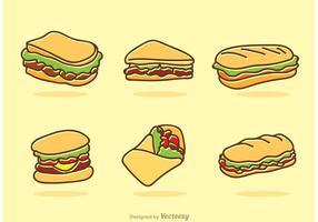 Vettore delle icone degli alimenti a rapida preparazione