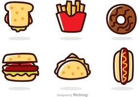 Vettori di fast food di cartone animato