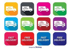 Set di icone di consegna veloce