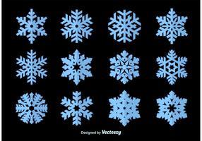 Vettori di sagoma di fiocchi di neve