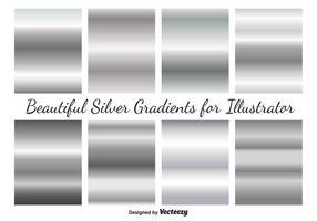 Vector argento gradienti