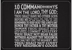 Vector 10 comandamenti sulla lavagna