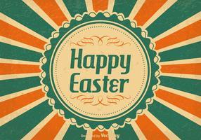 Illustrazione d'epoca di Pasqua felice vettore
