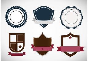 Distintivi araldici classici e vettori di etichette