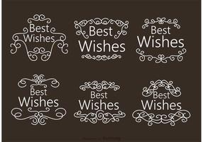 Swirl Best Wishes Vettori di ornamento