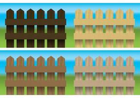 Vettore di recinzioni in legno