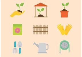 Icone vettoriali di giardinaggio